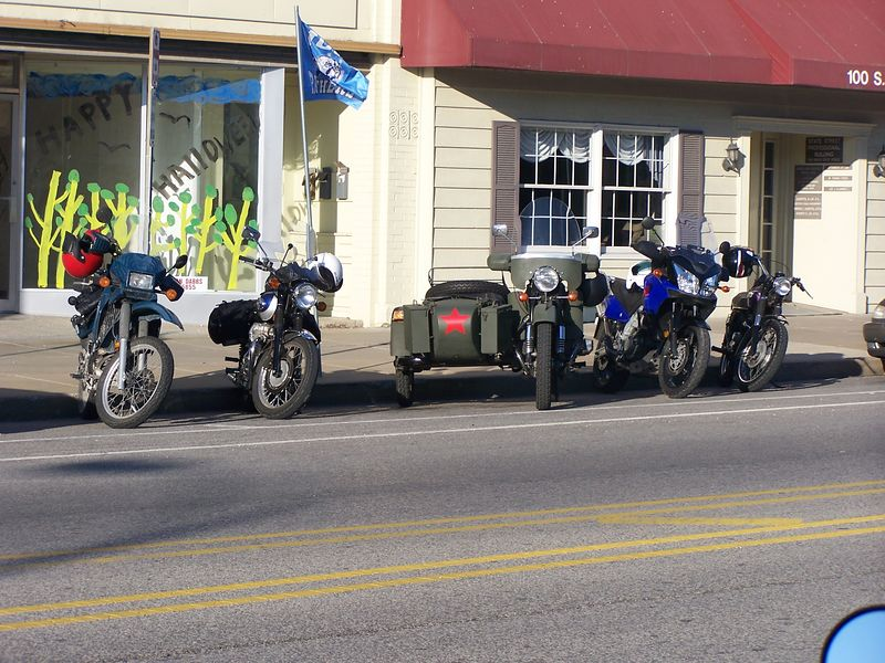 A quick shot of some of the bikes before we go.