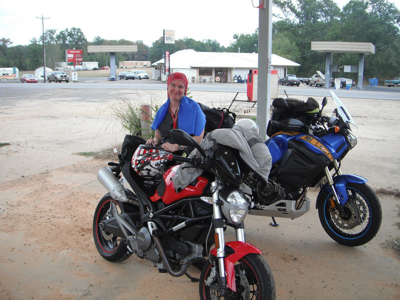 101F 7/31/2011 returning home from Talimena, Ar.  We are donning out wet towels.