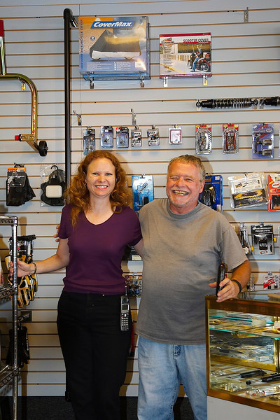 Eurosport Cycle Owner, Martha Lewis, with Customer Nick Burke