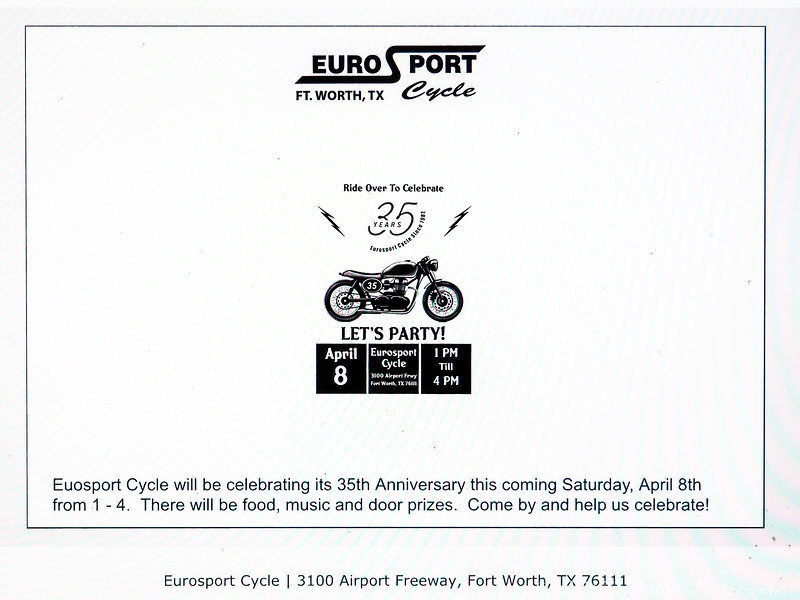 EuroSport 35th Anniv Open House 04-08-17