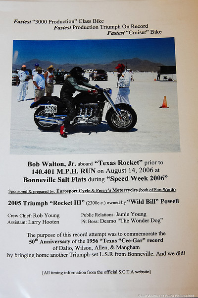 "Wild Bill Powell\'s\"" Texas Rocket\"", Bonneville LandSpeed RecordSeting SuperBike"