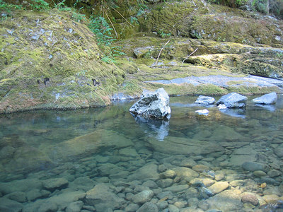We cooled off in a nice spot on Quartzville Creek.