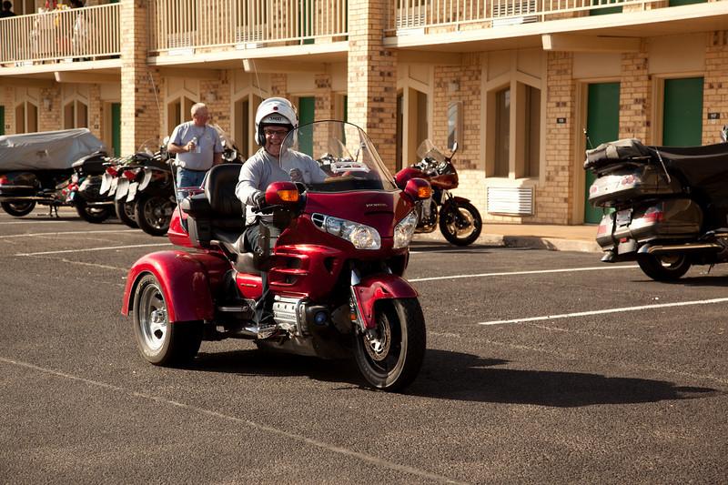 Louis riding UJ's Trike... and loving it.