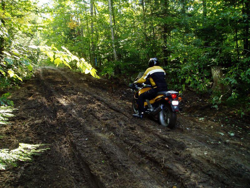 The K-bike is not afraid of mud.