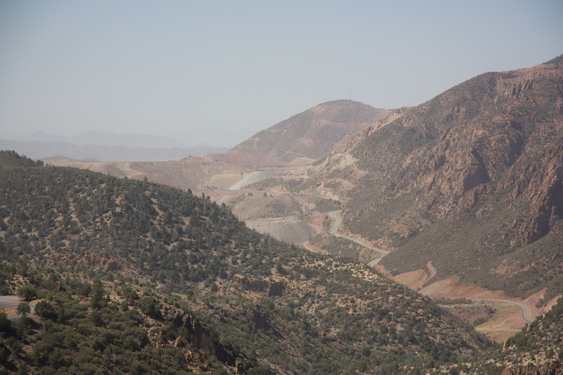 The Morenci Copper Mine region of southern Arizona