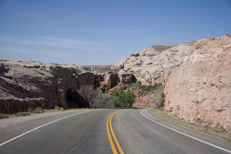 Coming into Bluff, AZ.