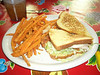 Surprisingly tasty turkey BLT.  Plus sweet potato fries!