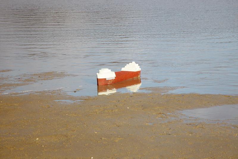 Oops!  Looks like she ran aground.