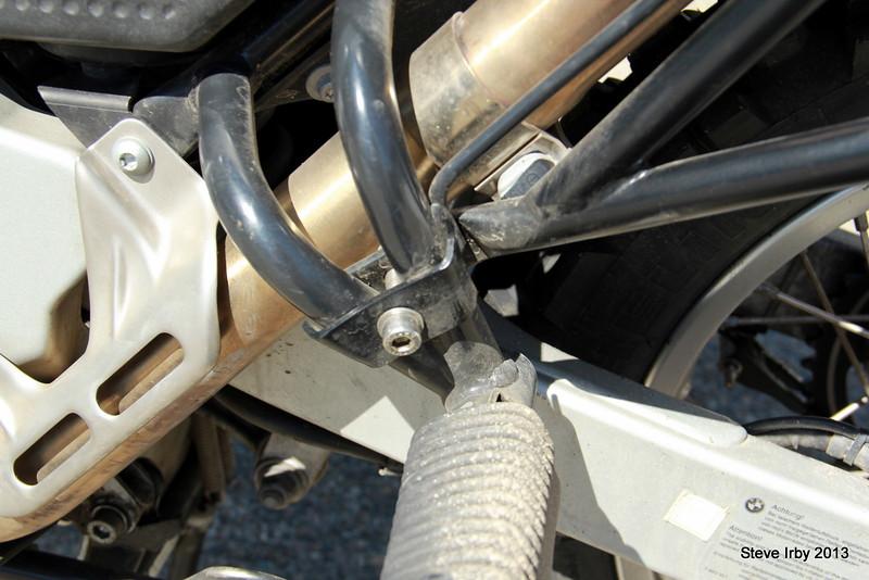 Pannier Rack attachment to rear footpeg bar