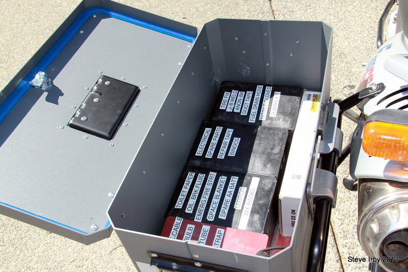 """A row of four BestRest """"Stuff Boxes"""" fits inside nicely with plenty off room for your tools and spares."""
