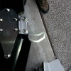 With  the bracket bolted in place the job is obvious.  The fender must clear the bracket on installation