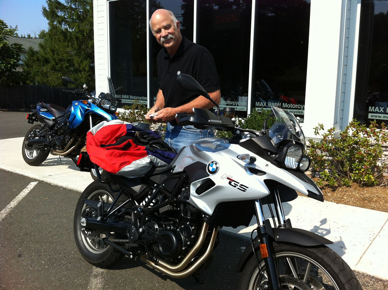 John and his new motorcycle 8/20/3013