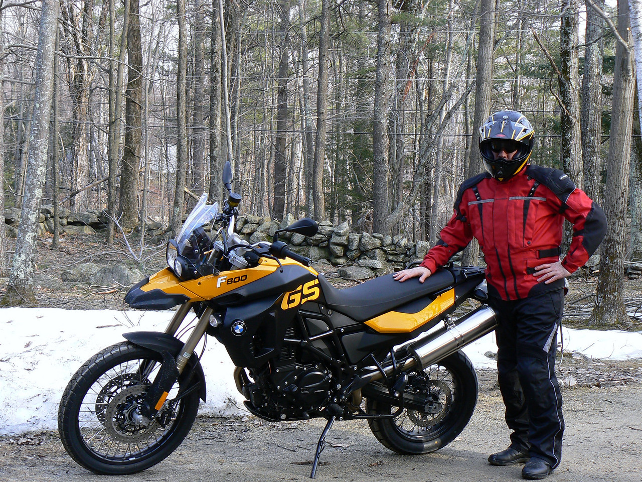 March 2009: My new 2009 BMW F800GS!