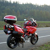 Fall Ride Pacific Northwest 2007 : We went for a ride to Vashon Island on the ferry to have breakfast and explore. We all decided to head back through Seattle. Our friend took us to an observation area and we were fortunate to have the view of the city with the fog hugging the Pugent Sound. We then took some back roads home and were treated to the colors of fall. Another great day to be on two wheels.