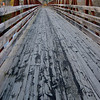 Footbridge over the Androscoggin River in Bethel Maine.