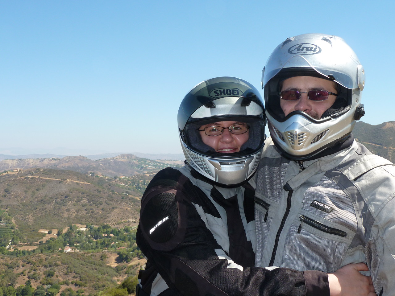 Ted and Faye near Mulholland, Santa Monica Mountains