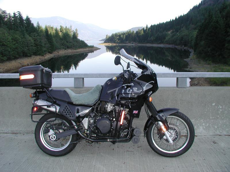 Vancouver Island 2005. Crossing Buttle Lake bridge on Gold River Road