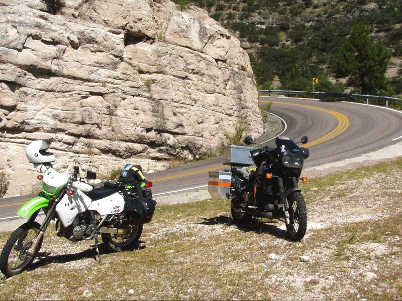 Mexico 2006. Copper Canyon highway is very steep & twisty through tall narrow canyons