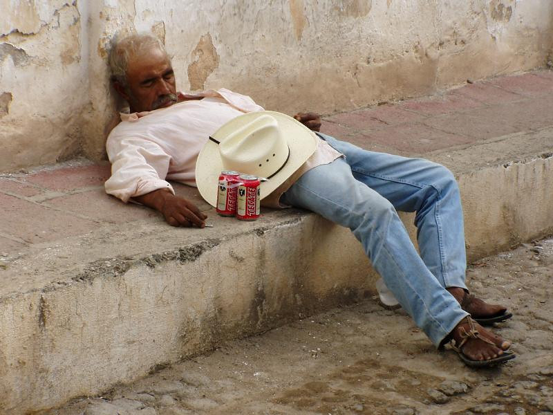Mexico 2006. A fine example of Sunday morning services in Batopilas. 9:00 am
