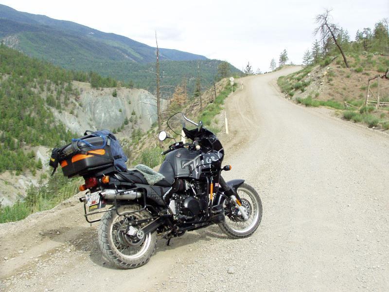 British Columbia 2004. Climbing up to Horseshoe Canyon of the Bridge River