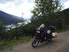 British Columbia 2005. Kootenays ride, Trout Lake gravel highway