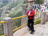 Mexico 2006. Ken at the edge of a 700 ft drop at Divisidero, Copper Canyon