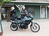 British Columbia 2007. Cam with his green machine, Lillooet