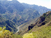 Mexico 2006. Looking into a river crossing 6,000 ft below in Batopilas Canyon