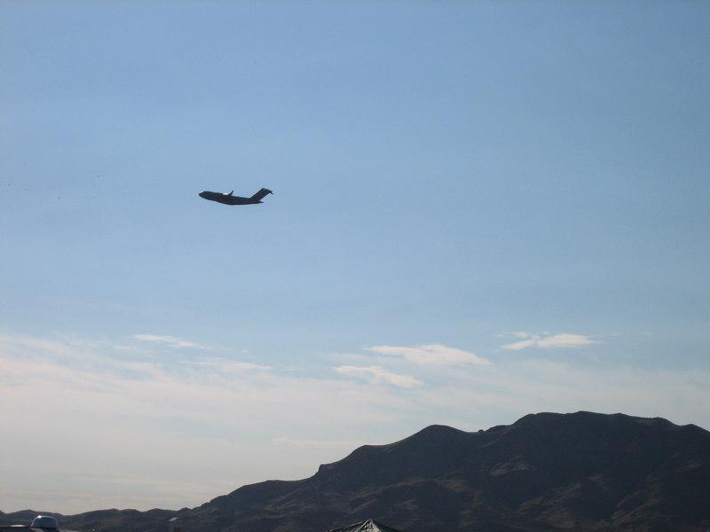 Planes constantl flying overhead due to the airforce base next door