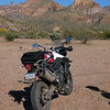 Muddy Tiger at the Gila River basin across from the coke ovens.