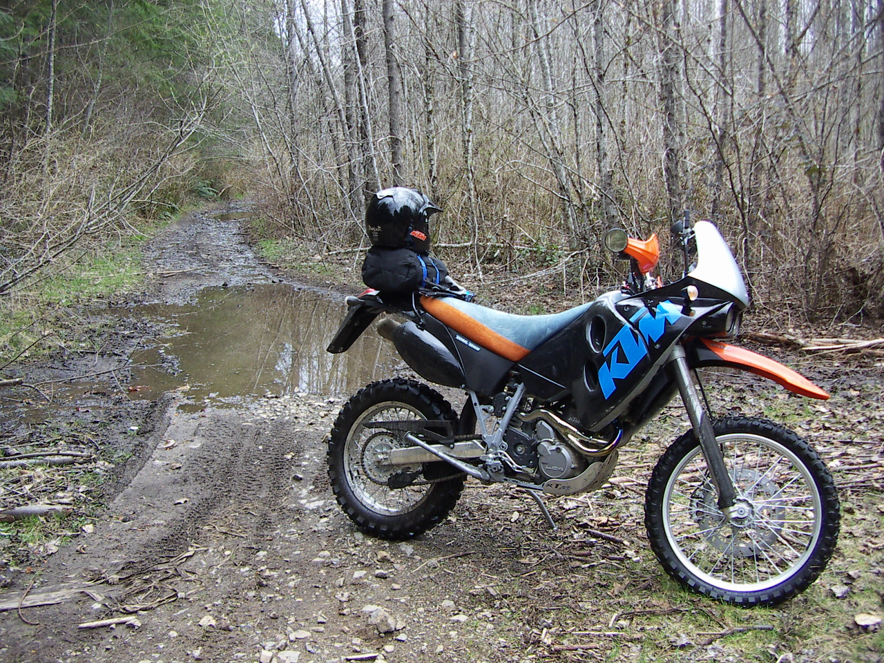 """Duvall WA.   About 4 minutes from crashing out going over a 9"""" log that decided to """"move""""."""