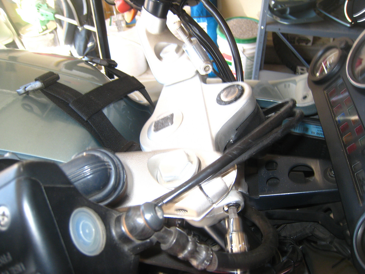 Re-install the handlebar assembly and position the fork tube so that it is flush with the top of the handlebar assembly.