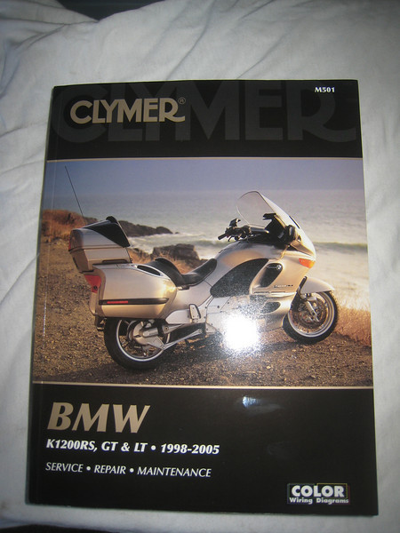 I also picked up a Clymer manual for the bike.