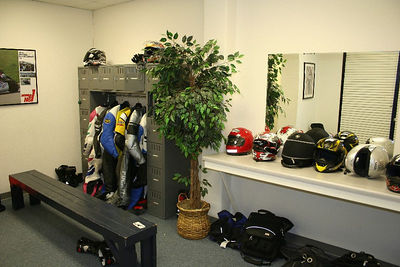 The locker room for changing and storage.