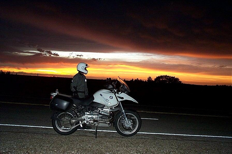 West Texas desert sunset.