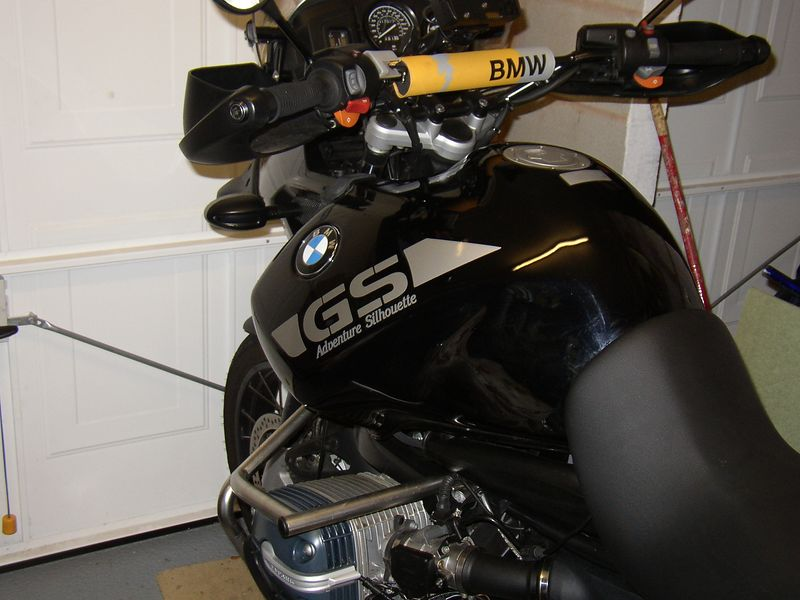 A Customers bike with All Silver Tank Stickers and personalised graphics.