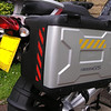Reflective Chevrons on 1200GS vario panniers,these chevrons are the same dimensions as the 1200gsa version.
