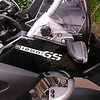 All white reflective R1200GS Beak sticker.