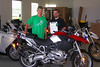 Another historic moment...This is Ray Addington He brought his 1200GS in and was service order # 1.