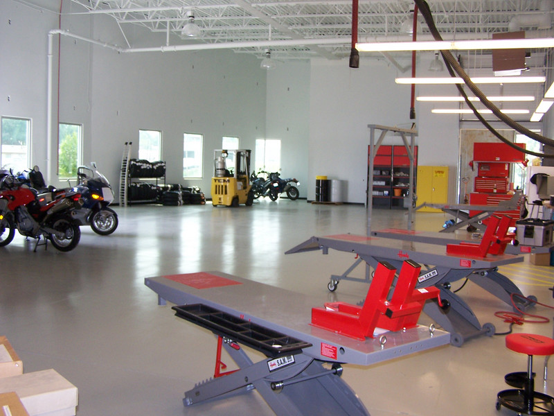 The shop is cleared and is waiting for our next shipment of bikes.