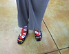 Barb Backhaus's Christmas socks and shoes!