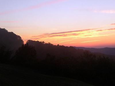 Dawn in Little Switzerland, NC