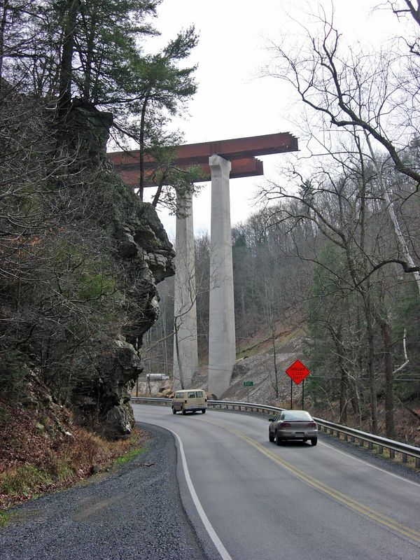 McCaulely, WV, new bridge crossing the Lost River on Rt. 55