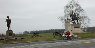 Stopped for moment at the battlefields in Gettysburg.