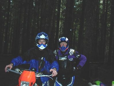 Me on my KTM 520 EXC and Dan.