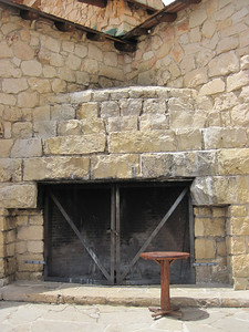 A fireplace at the lodge in Grand Canyon National Park, North Rim.