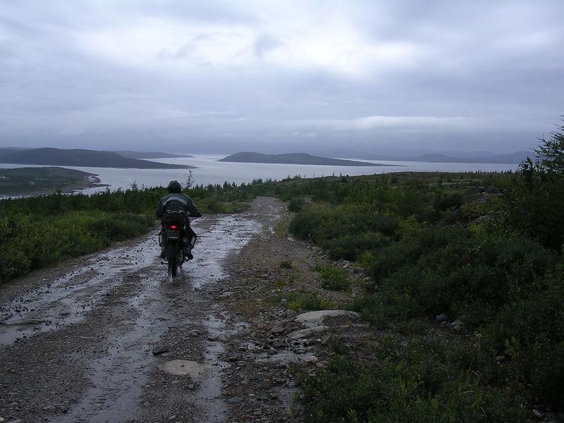 Top of base road in Cartwright, Labrador.