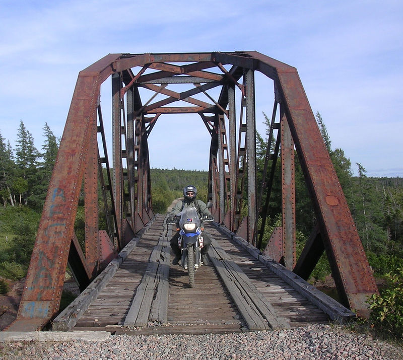 Railroad bridge along the trail across Newfoundland.