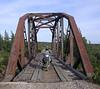 Railroad bridge along the trail across Newfoundland.