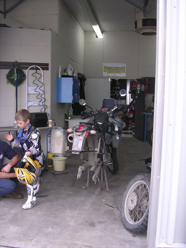 Getting my sprocket replaced in Baie Cameaux (sp)